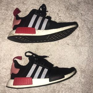 Womens black/red Adidas NMD